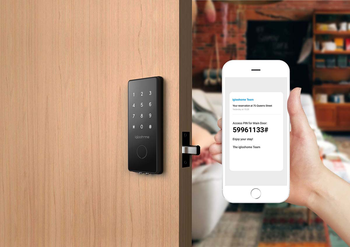 Picture Shows keyless entry using smart phone